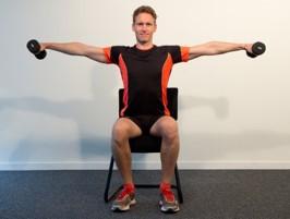 Elévations latérales assis