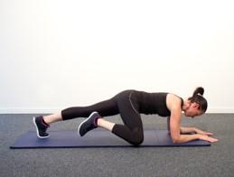 Gainage avec élévation de la jambe
