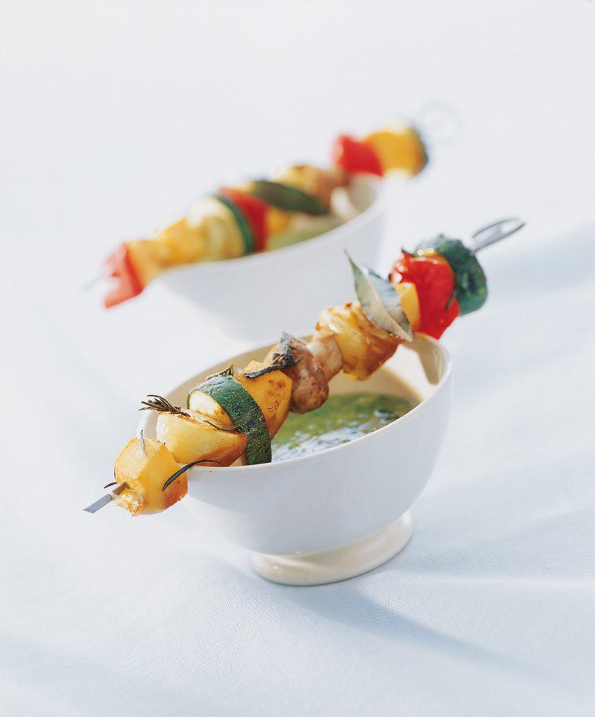 Brochettes de légumes à la toscane